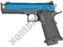 R501 Airsoft Pistol Custom 1911 Hi-Capa Gas Blowback BB Gun Black & 2 Tone Metal